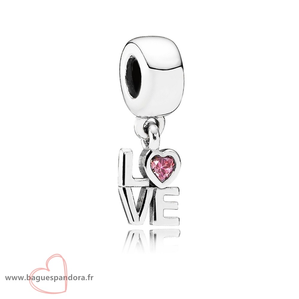 Bas Prix Pandora Pandora Symboles De Amour Charms Tout Sur Amour Dangle Charm Fancy Rose Cz Populaire