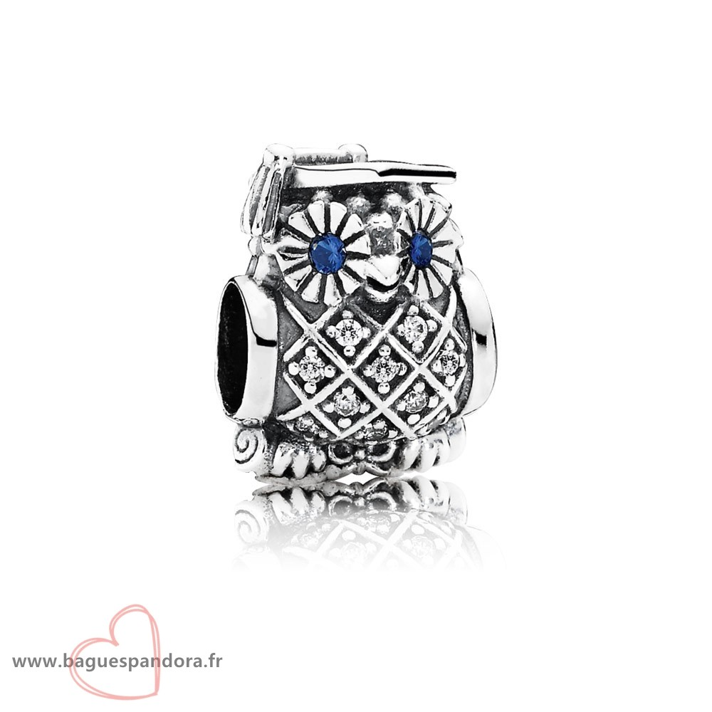 Bas Prix Pandora Pandora Animaux Charms Diplome Owl Swiss Blue Crystal Clear Cz Populaire