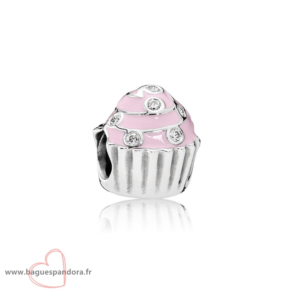 Bas Prix Pandora Sweet Cupcake Charm Lumiere Rose Email Clear Cz Populaire