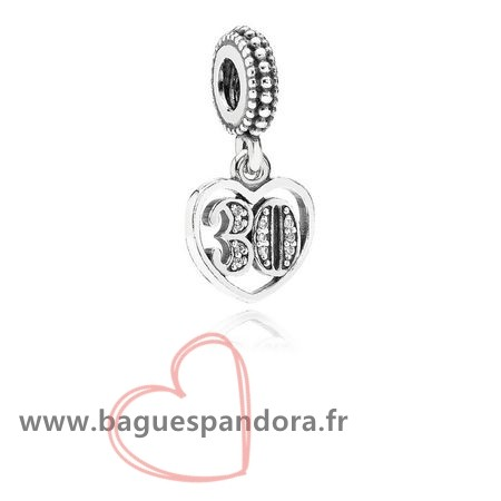 Bas Prix Pandora Dangles 30 Annees D'Amour Dangle Clear Cz Populaire