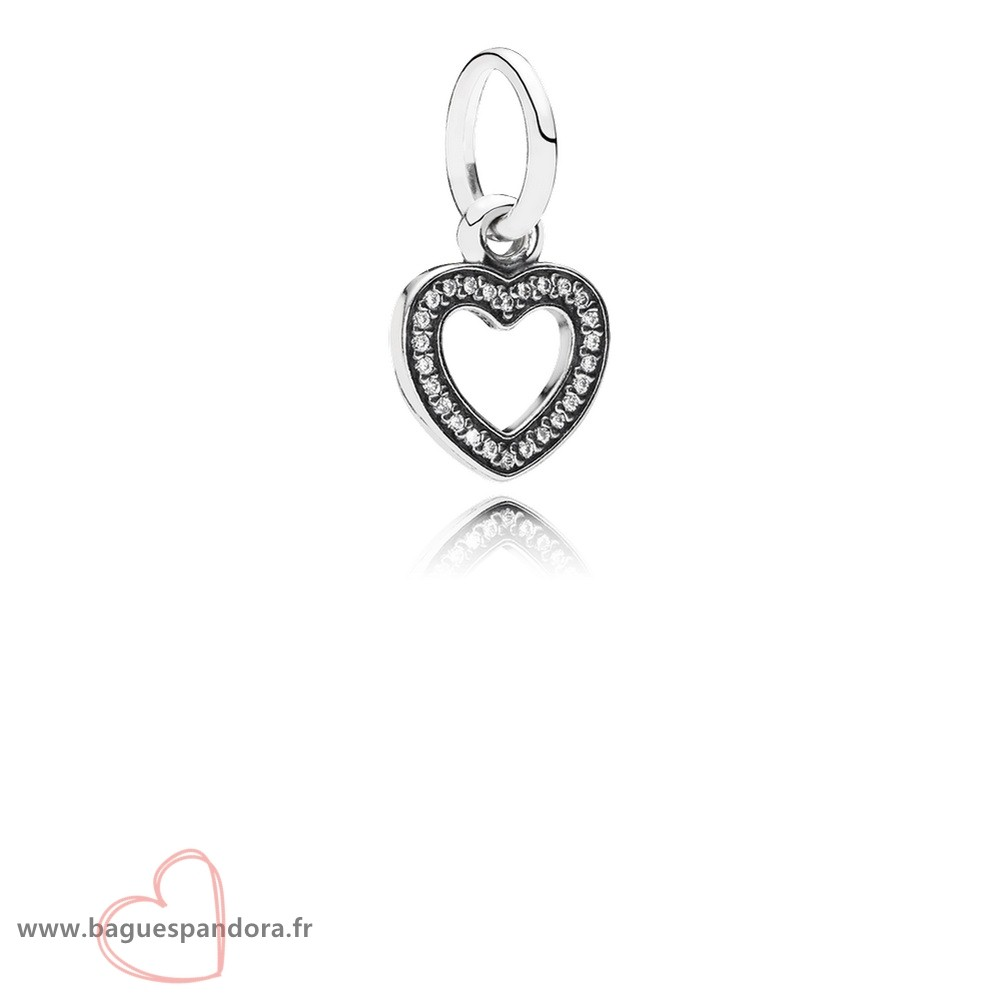 Bas Prix Pandora Pandora Dangle Breloques Symbole Of Amour Dangle Charm Clear Cz Populaire