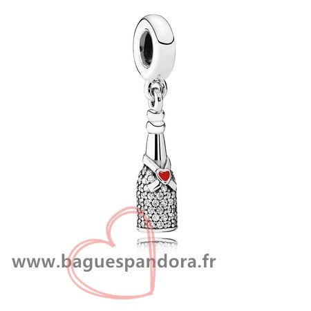 Bas Prix Pandora Pandora Passions Charms Chic Charme Celebration Time Dangle Red Enamel Clear Cz Populaire