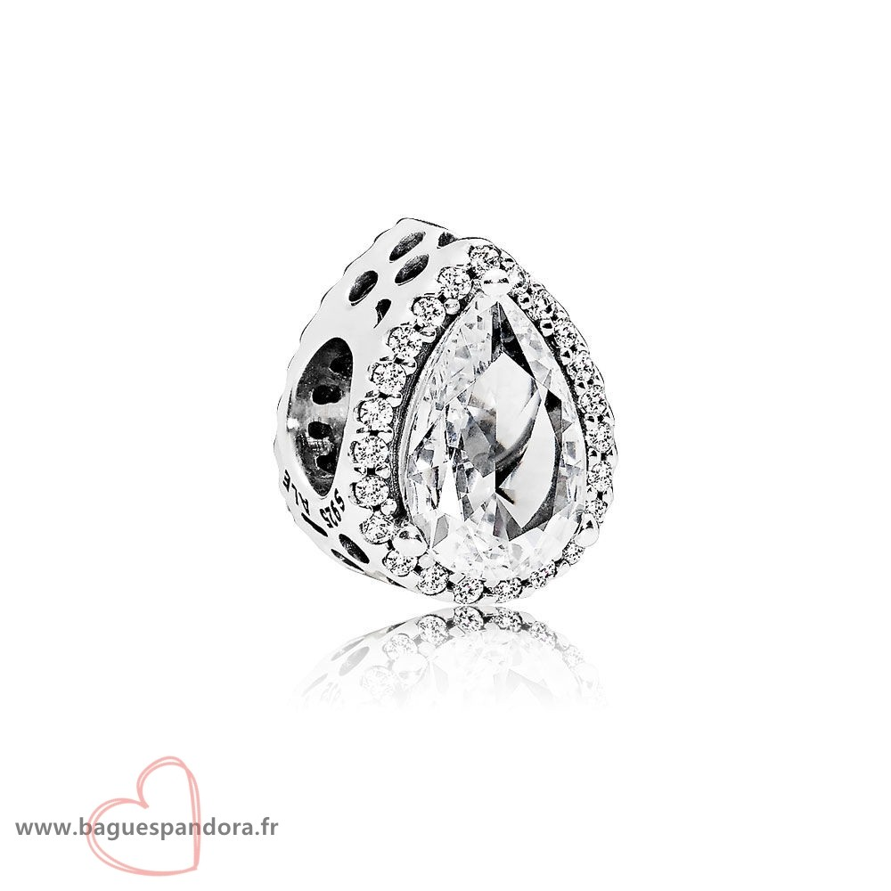 Bas Prix Pandora Pandora Passions Charms Chic Charme Glamour Radiant Teardrop Clear Cz Populaire