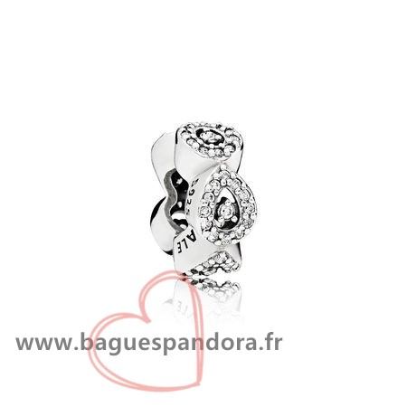 Bas Prix Pandora Pandora Passions Charms Chic Glamour Cascading Glamour Spacer Clear Cz Populaire