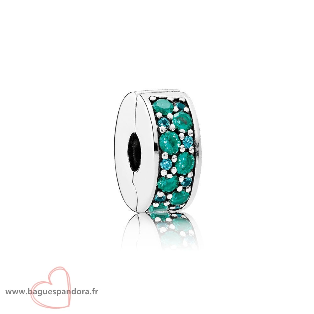 Bas Prix Pandora Pandora Charms De Couleur Mosaique Brillant Elegance Clip Multi Coloured Crystals Teal Cz Populaire