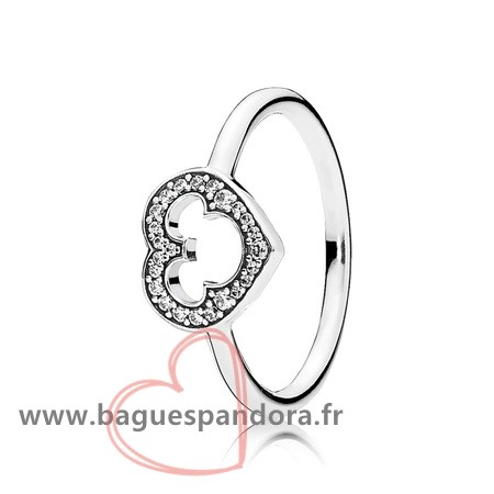 Bas Prix Pandora Pandora Disney Collection Disney Mickey Silhouette Bague Clear Cz Populaire