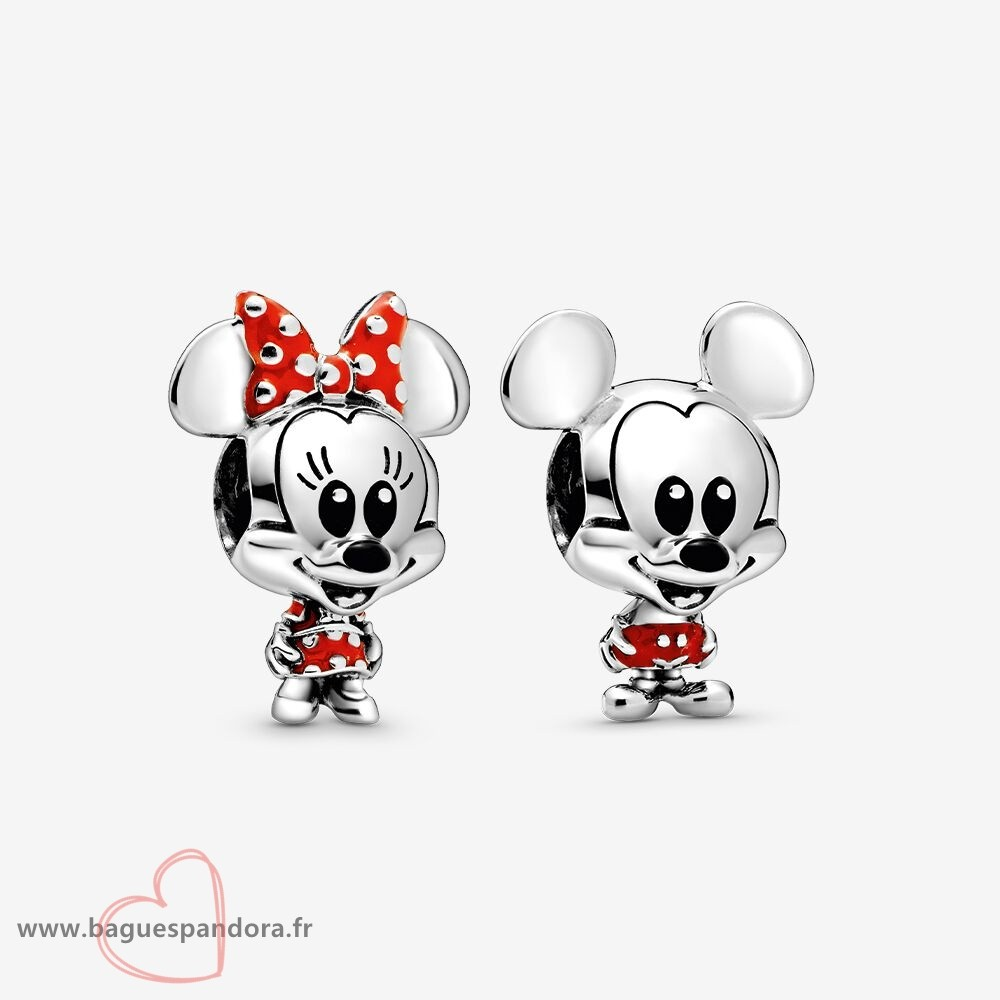 Bas Prix Pandora Breloque Disney Mickey Et Minnie Mouse Ensemble Populaire