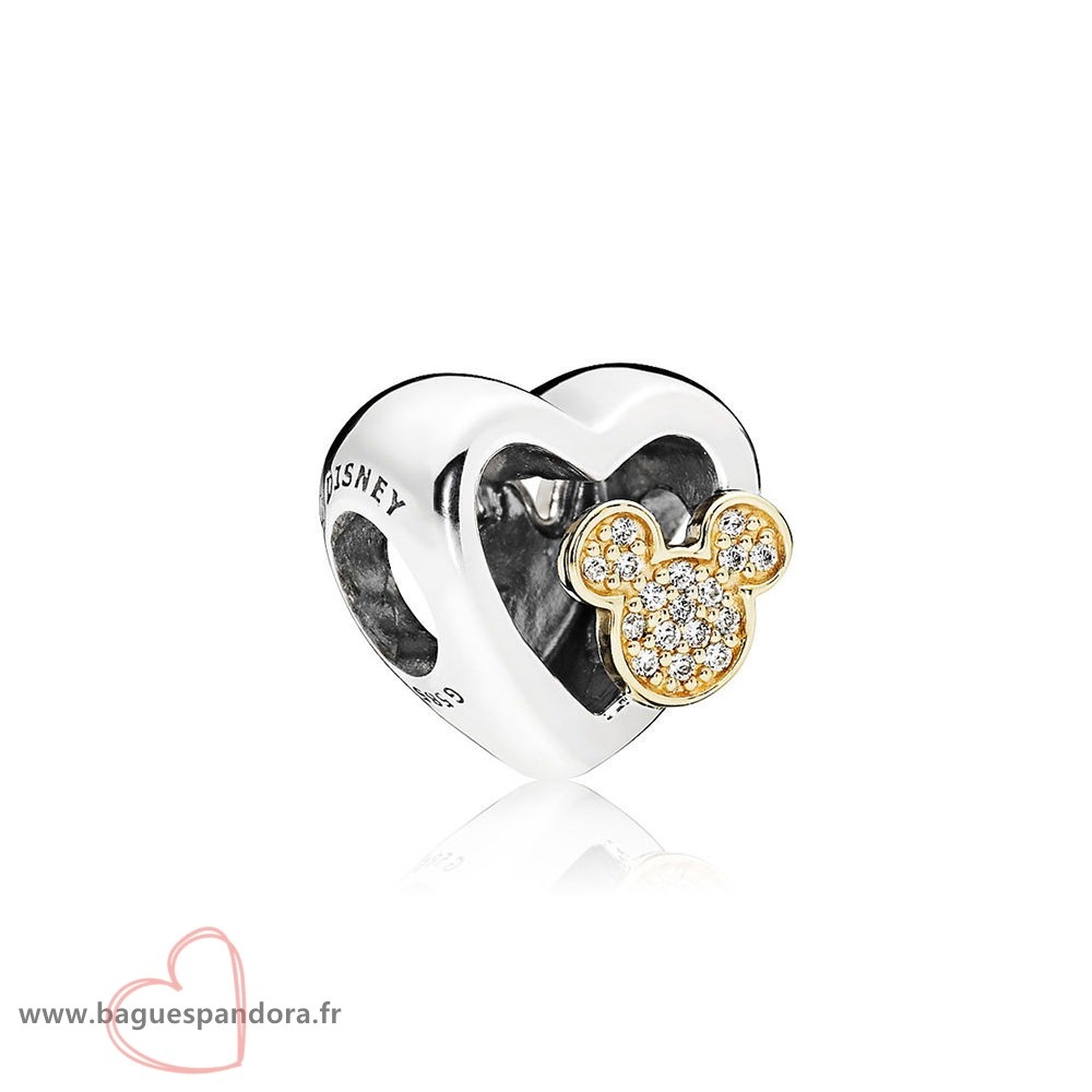 Bas Prix Pandora Collection D'Hiver Disney Mickey Minnie Amour Icones Charme Red Clear Cz Populaire