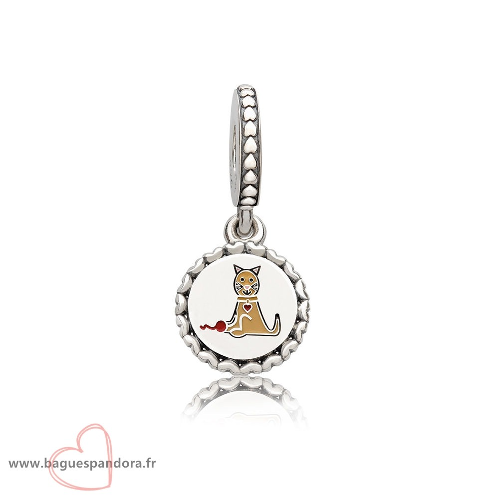 Bas Prix Pandora Pandora Charms Famille Chat Stick Figure Dangle Charm Mixed Email Populaire