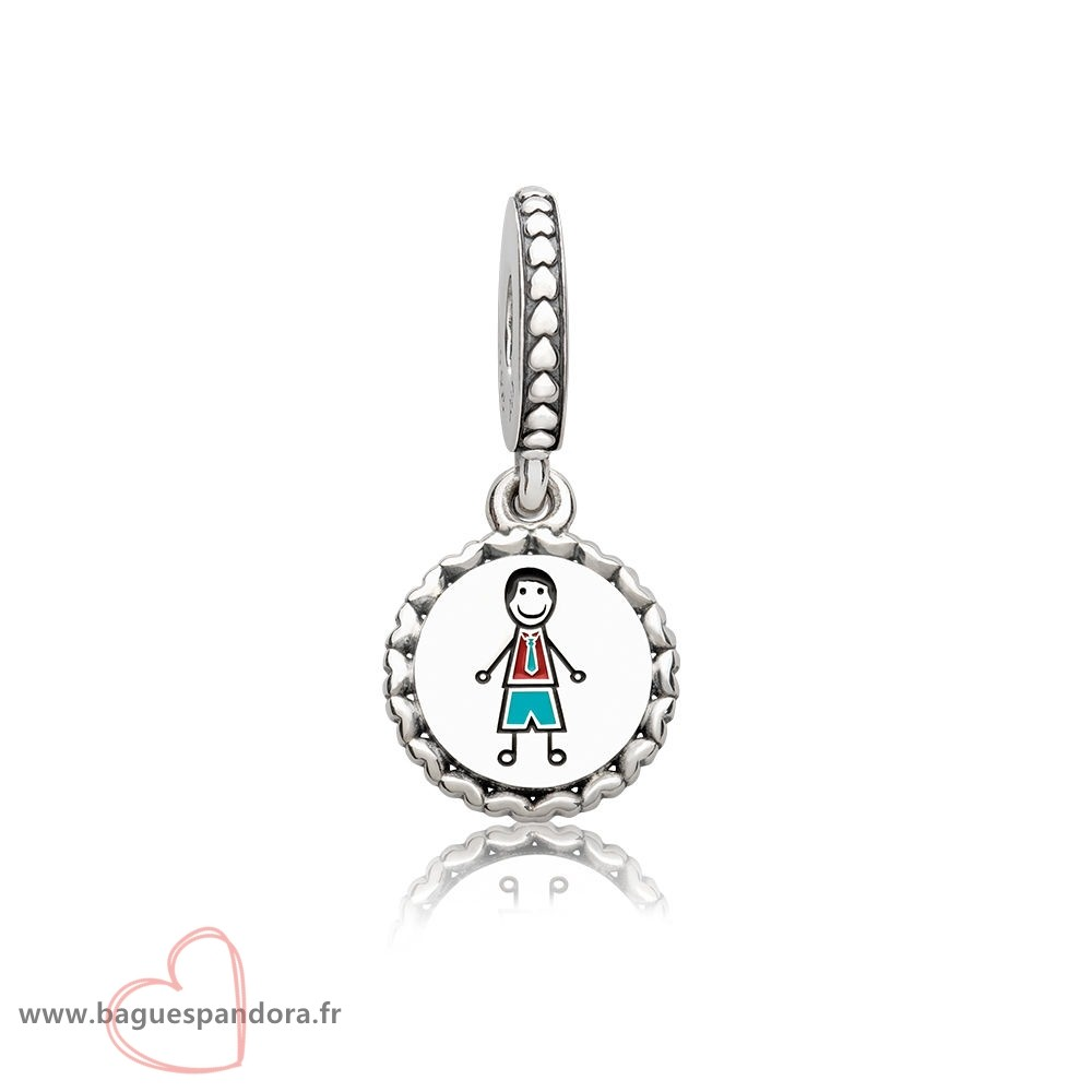 Bas Prix Pandora Pandora Famille Charms Papa Stick Figure Dangle Charm Mixed Email Populaire