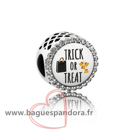 Bas Prix Pandora Pandora Vacances Charms Halloween Trick Or Treat Charm Mixed Email Clear Cz Populaire