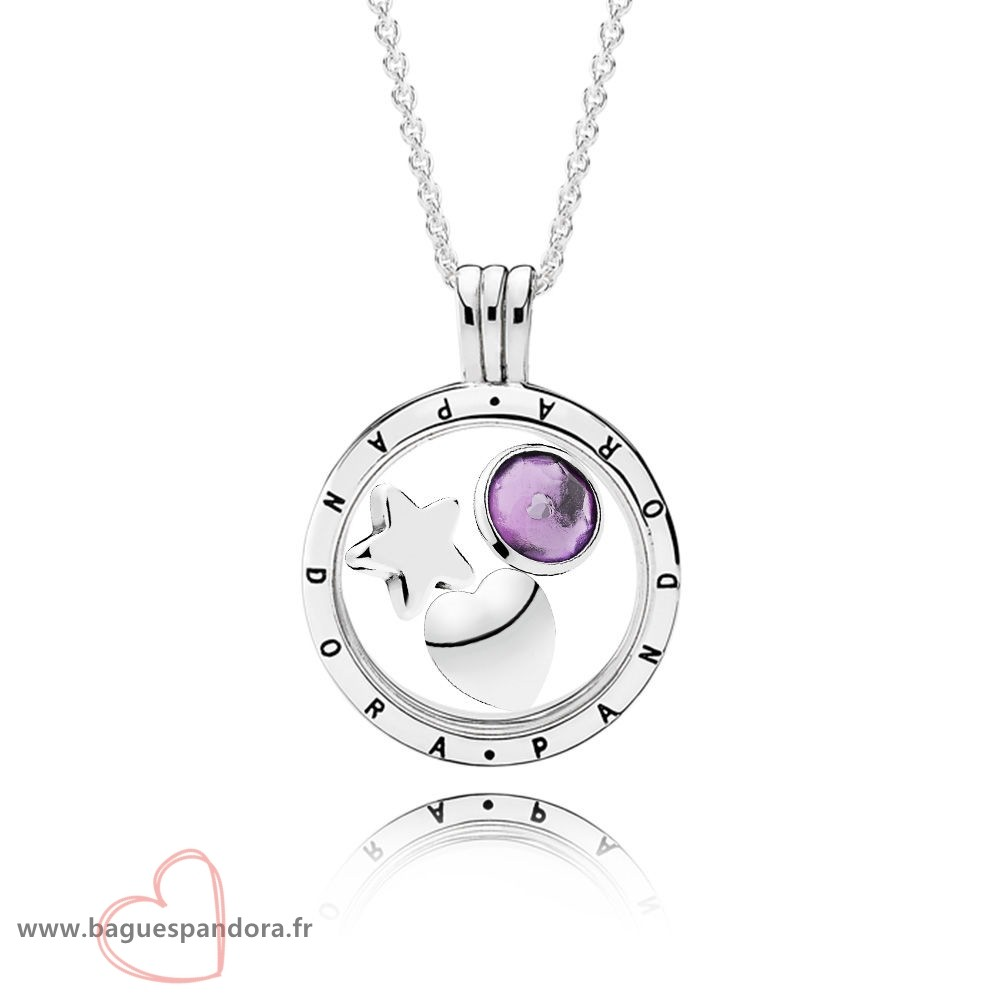 Bas Prix Pandora February Birthstone Floating Locket Gift Set Populaire