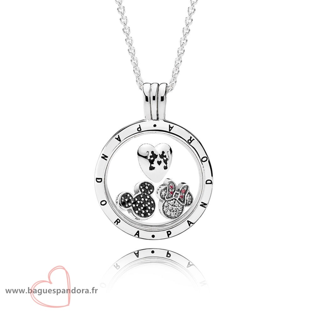 Bas Prix Pandora Pandora Disney Sparkling Mickey Floating Locket Set Populaire