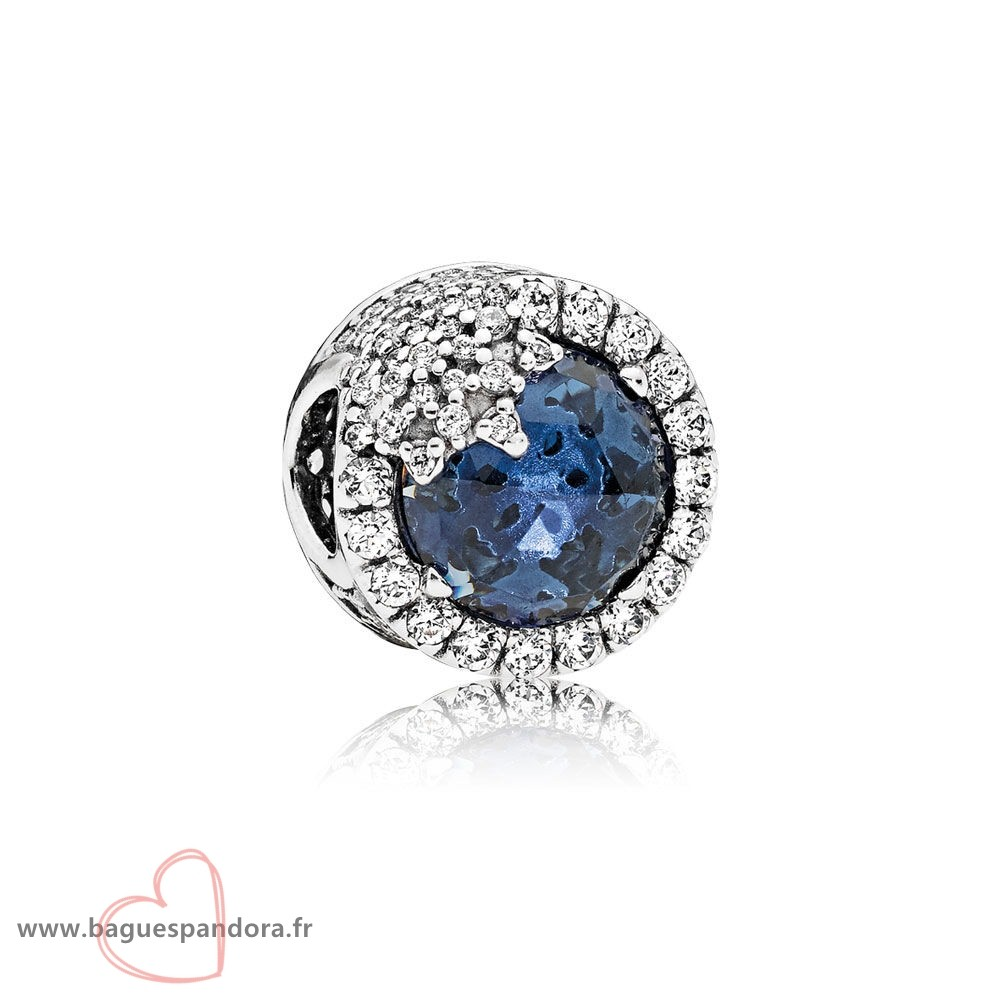 Bas Prix Pandora Nature Charms Dazzling Flocon De Neige Twilight Blue Cristaux Clear Cz Populaire