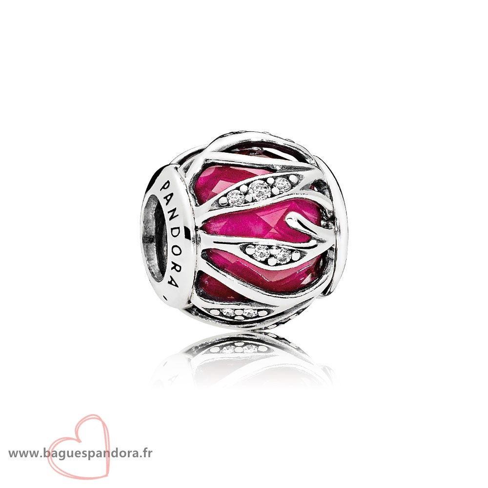 Bas Prix Pandora Nature Charms Nature'S Radiance Synthetique Ruby Clear Cz Populaire