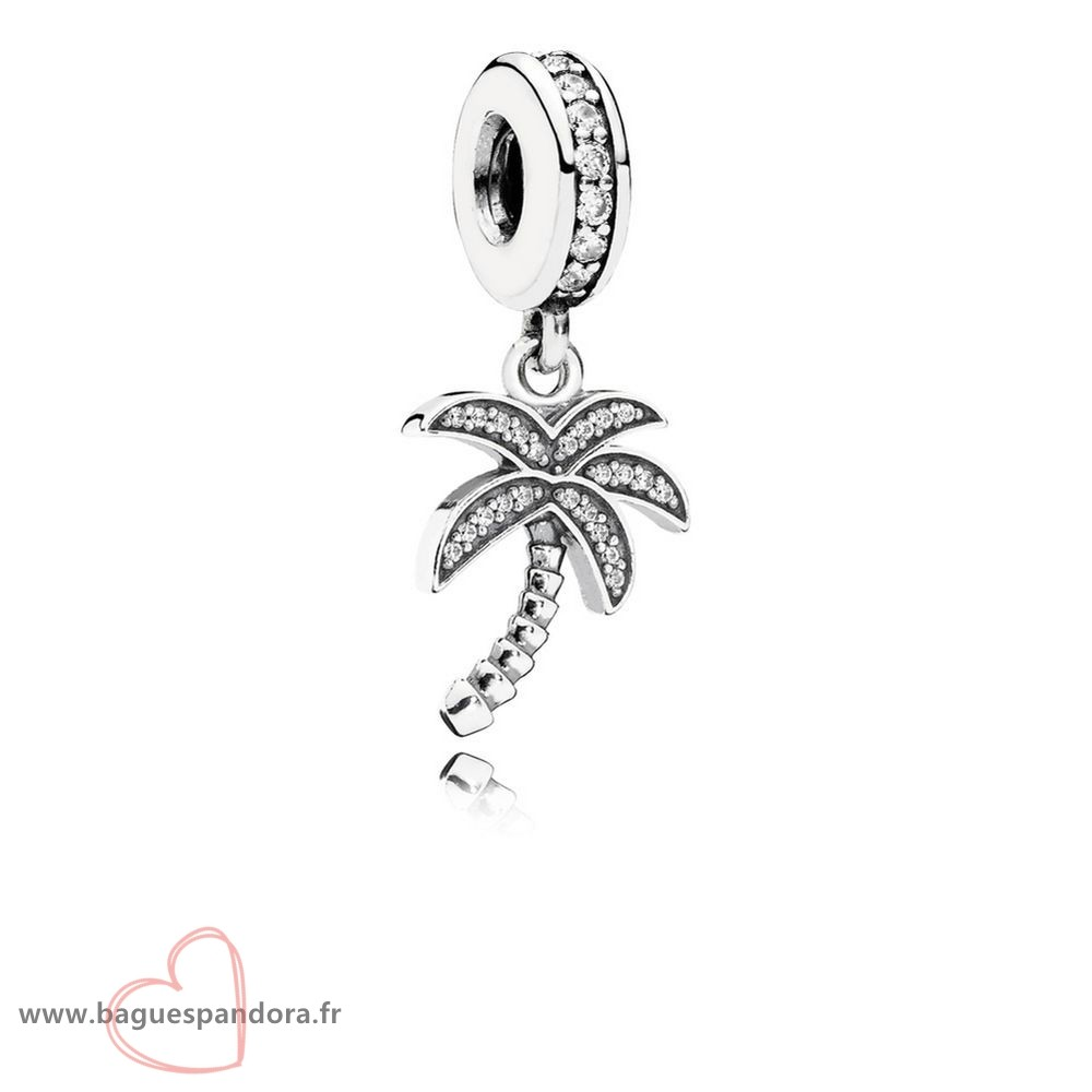 Bas Prix Pandora Pandora Nature Charms Charmant Palmier Dangle Charme Clear Cz Populaire