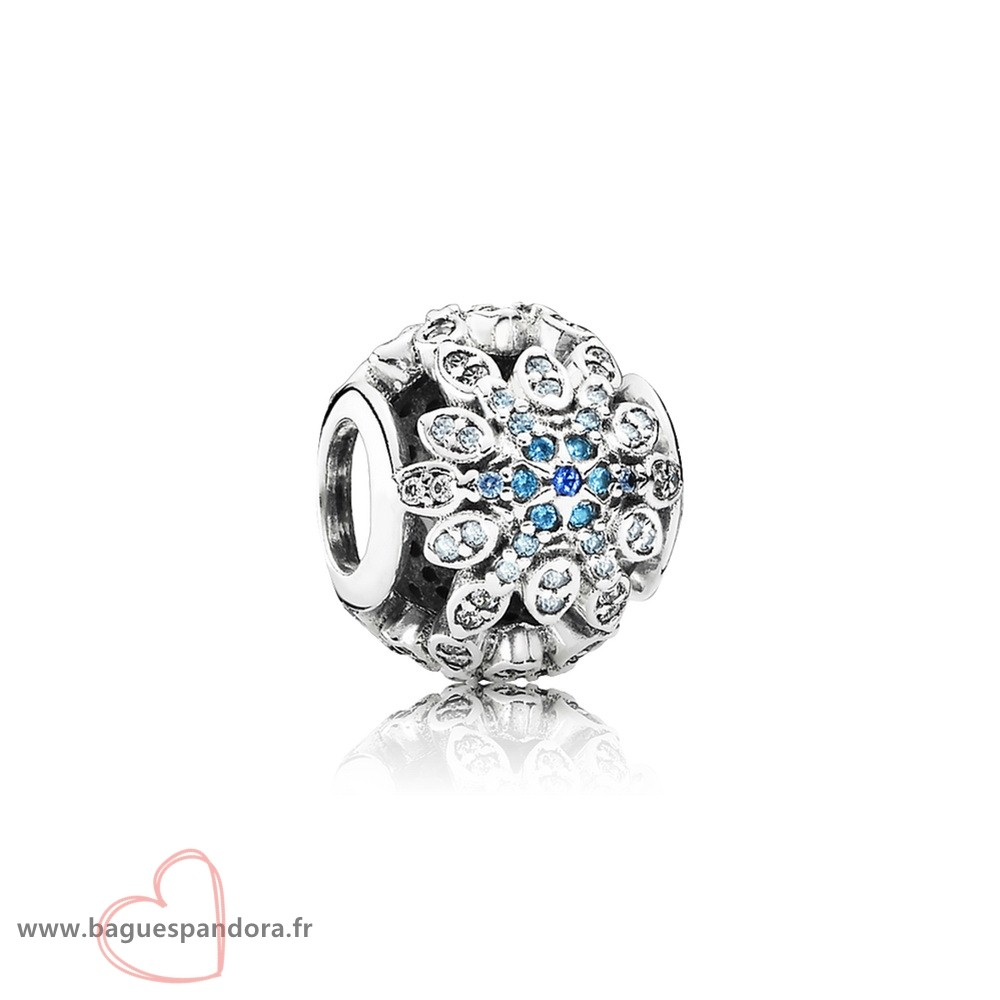 Bas Prix Pandora Pandora Nature Charms Crystalized Flocons De Neige Charm Blue Crystals Clear Cz Populaire
