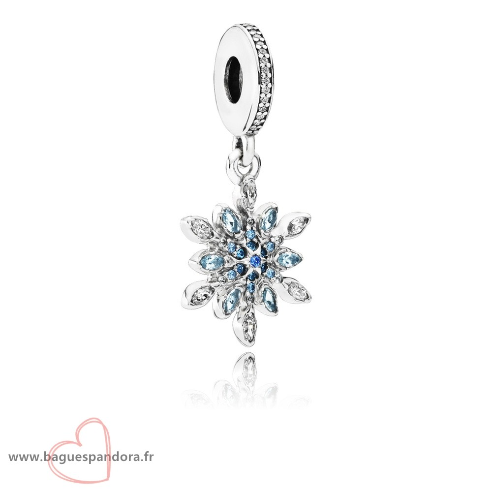 Bas Prix Pandora Pandora Nature Charms Crystalized Snowflake Dangle Charm Blue Crystals Clear Cz Populaire